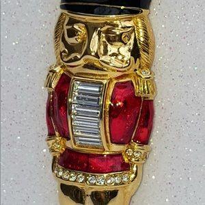 Vintage Swarovski Crystal Nutcracker Brooch RARE